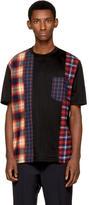 Lanvin Black Multi Check T-Shirt