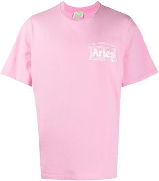 Aries Logo-Print Cotton T-Shirt