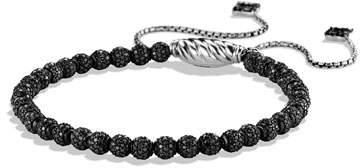 David Yurman Petite Pavé Spiritual Bead Bracelet with Black Diamonds