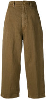 Aspesi cropped trousers - women - Linen/Flax - 46