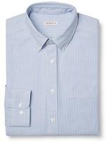 Merona Men's Striped Button Down Oxford Shirt Light Blue