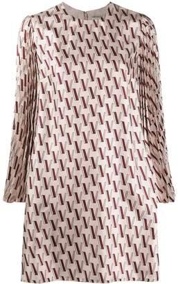 Valentino monogram print shift dress