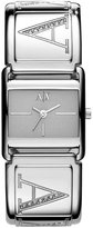 Armani Exchange 'Smart' Square Dial Bangle Watch