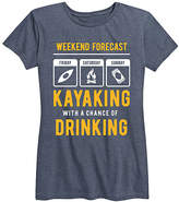 Instant Message Women's Women's Tee Shirts HEATHER - Heather Blue 'Weekend Forecast' Relaxed-Fit Tee - Women