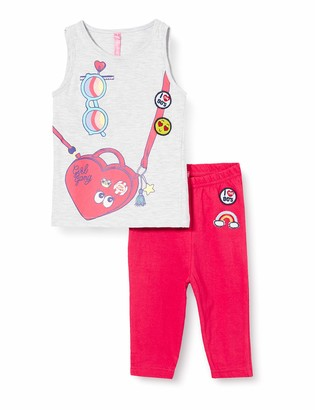 Lina Pink Girl's Bf.roll.pco Pyjama Set