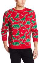Alex Stevens Men's Dinosaur Chaos Ugly Christmas Sweater