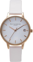 Olivia Burton OB15TD09 the dandy stainless steel and leather watch