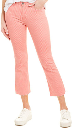 AG Jeans The Jodi Red Stripe High-Rise Flare Crop