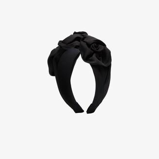 Jennifer Behr Black Triple Rosette Headband