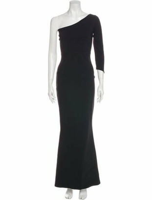 Chiara Boni One-Shoulder Long Dress Black