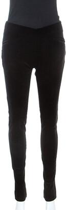 Ralph Lauren Black Stretch Velvet Slim Fit Pants M