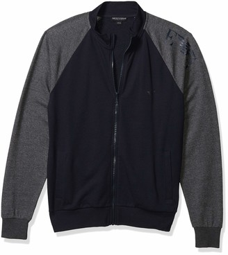 Emporio Armani Men's Basic French Terry Zip Up Sweater