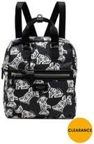 Radley Folk Dog Medium Zip Top Backpack - Black