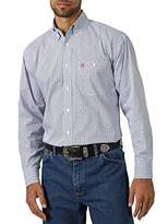 Wrangler Men's Big & Tall Western George Strait One Pocket Button Long Sleeve Woven Shirt