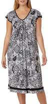 Ellen Tracy Pleated Animal Print Gown