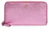Tory Burch Women's Metallic Leather Continental Wallet - Pink