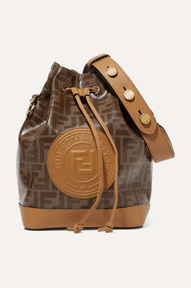 Fendi Mon Tresor Large Printed Coated-canvas And Leather Bucket Bag - Tan