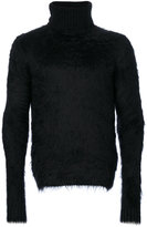 Saint Laurent textured roll neck jumper - men - Polyamide/Spandex/Elastane/Mohair/Wool - S
