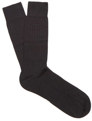 Pantherella Pembrey Cotton Blend Socks - Mens - Black