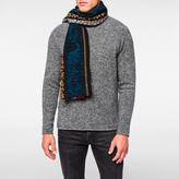Paul Smith Men's Black Fairisle Lambswool Scarf