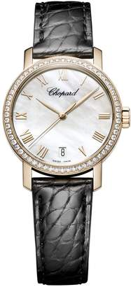 Chopard Rose Gold and Diamond Classic Watch 33.5mm