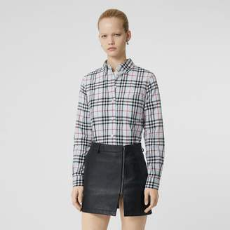 Burberry Button-down Collar Vintage Check Cotton Shirt