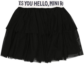 Mini Rodini Logo tulle miniskirt