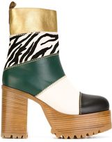 Marni platform boots - women - Leather/Calf Hair/rubber - 38