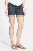 Olian Women's Denim Maternity Shorts