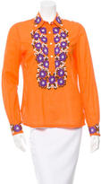 Tory Burch Floral Embroidered Top