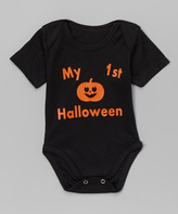 Beary Basics Black 'My 1st Halloween' Bodysuit - Infant