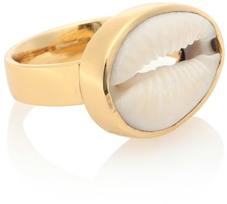 Tohum Design 22kt Gold Plated Cowry Shell Ring
