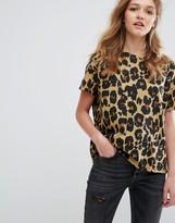 Pull&Bear Leopard Print T-Shirt