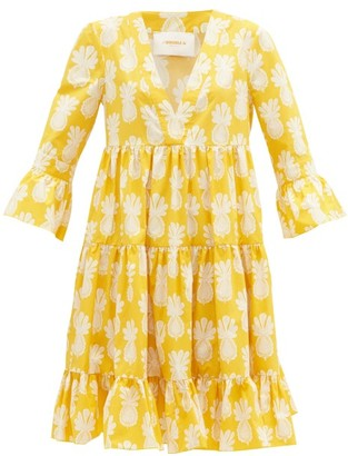 La DoubleJ Jennifer Jane Big Pineapple-print Dress - Womens - Yellow Print