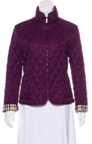 Burberry Stand Collar Quilted Jacket