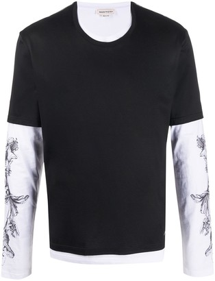 Alexander McQueen layered long-sleeves T-shirt