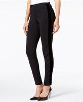 MICHAEL Michael Kors Velvet-Stripe Skinny Pants