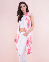Missy Empire Katya Pink Neon Floral Waistcoat