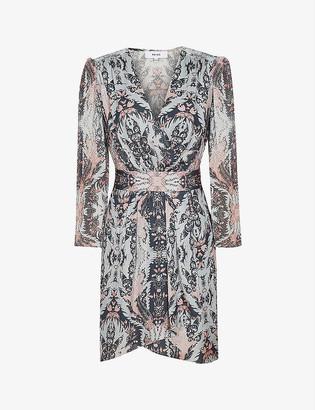 Reiss Lacey paisley-print crepe midi dress