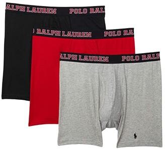 Polo Ralph Lauren 4D-Flex Breathable Mesh Boxer Brief 3-Pack (Polo Black/Red/Andover Heather) Men's Underwear