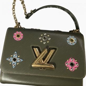 Louis Vuitton Twist Green Leather Handbags