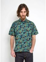 Gitman Brothers Vintage Camp Shirt Palm Tree Print