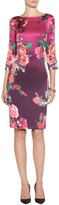 St. John Pink Roses Print Dress