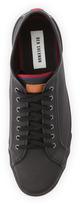 Ben Sherman Breckon Leather Low-Profile Sneaker, Black