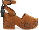 Sigerson Morrison Beia embroidered suede platform sandals