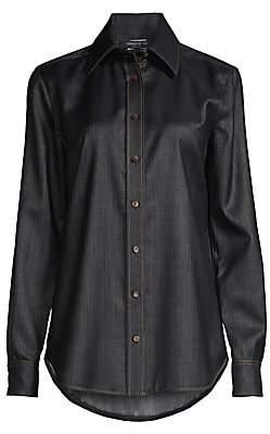 Lafayette 148 New York Women's James Chambray Shirt