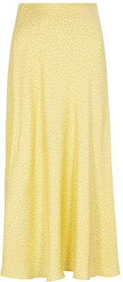 Samsoe & Samsoe Alsop yellow polka-dot midi skirt