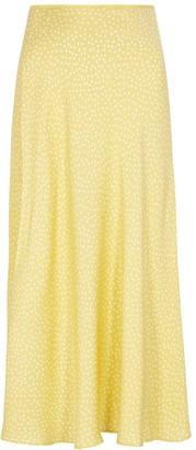 Samsoe & Samsoe Samse Samse Alsop Yellow Polka-dot Midi Skirt