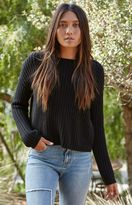 La Hearts Shaker Rib Stitch Pullover Sweater