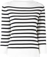 Woolrich boat neck striped jumper